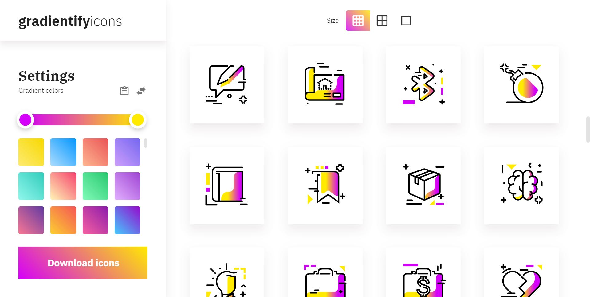 Gradientify SVG Icons - The definitive pack for gradient lovers
